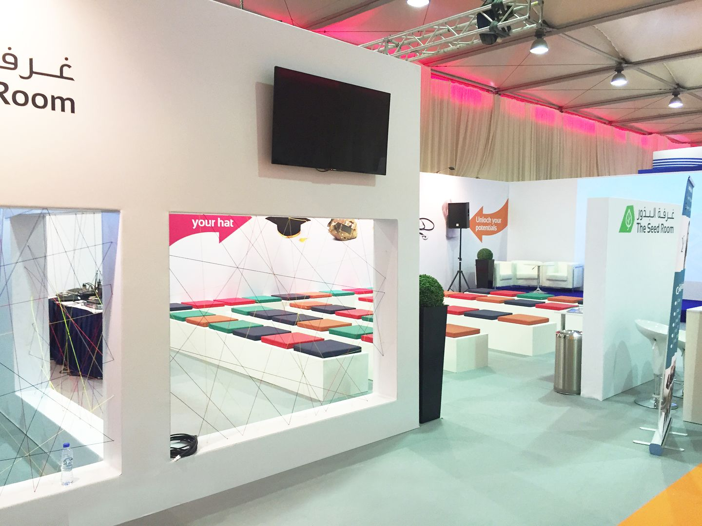 controlled entry to the exhibition booth in Dubai