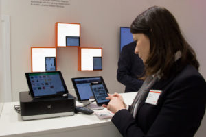 social networks and applications at the exhibition stand