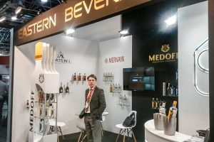 custom stand for trade fair for wines and spirits