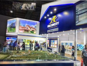 Exhibition stand FALCONCITY at real estate exhibition