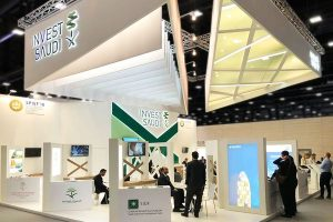 Exhibition stand Invest Saudi at MIPIM