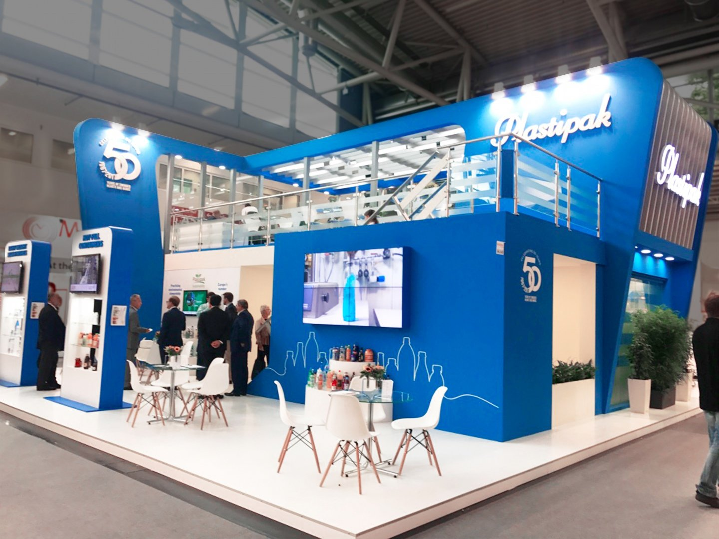 plastipak exhibition stand with meeting room