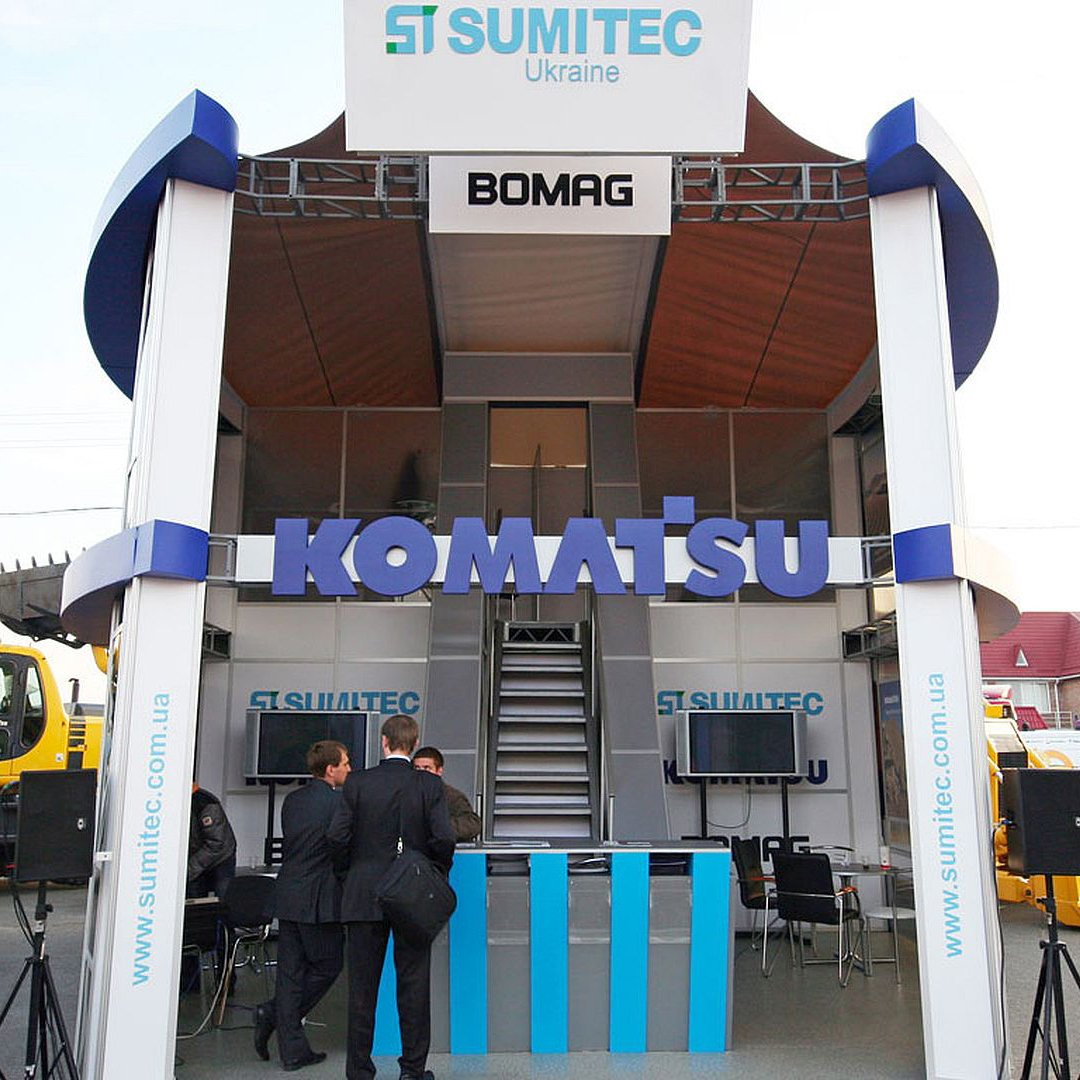 small double-decker stand of the Sumitec