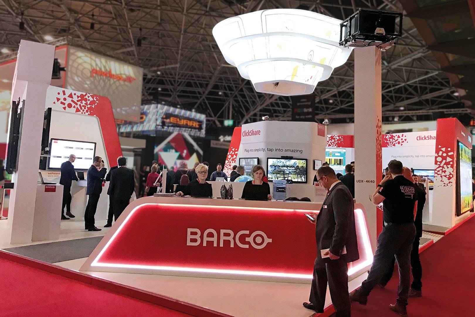 booth of Barco at the Netherlands (Holland) exhibition