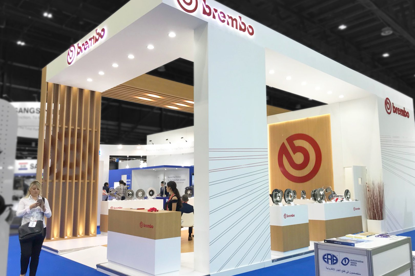 booth of Brembo at the exhibition in the UAE