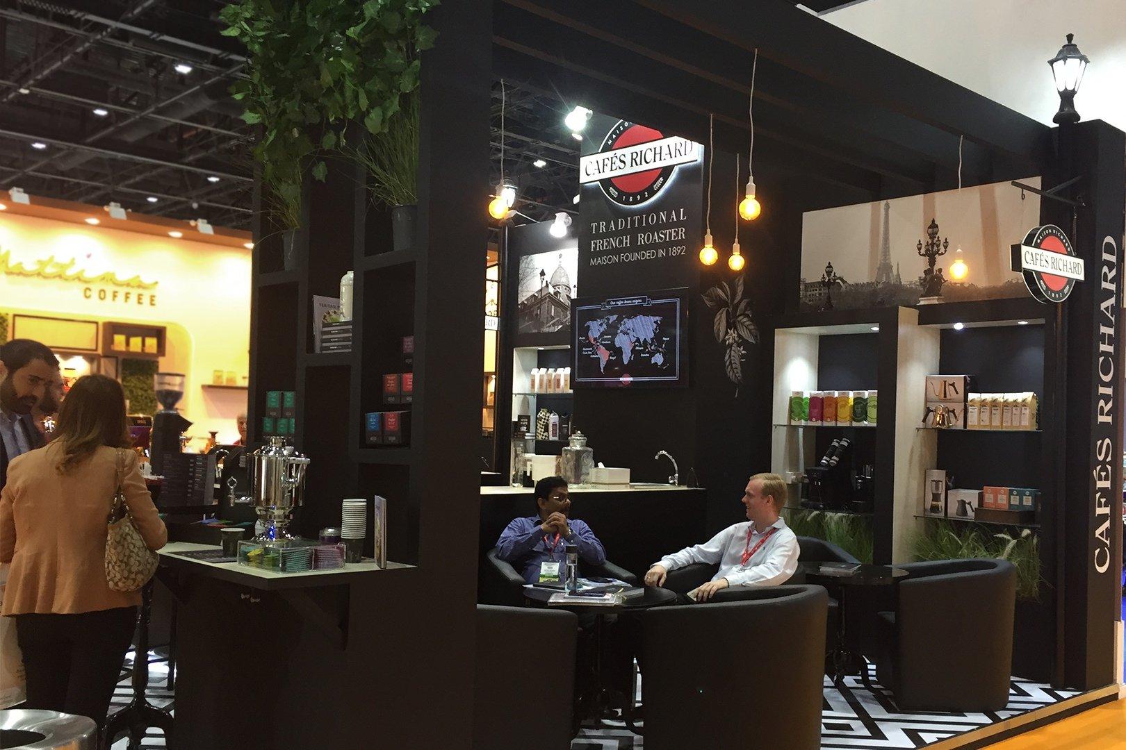 стенд компании Cafes Richard на выставке в ОАЭ