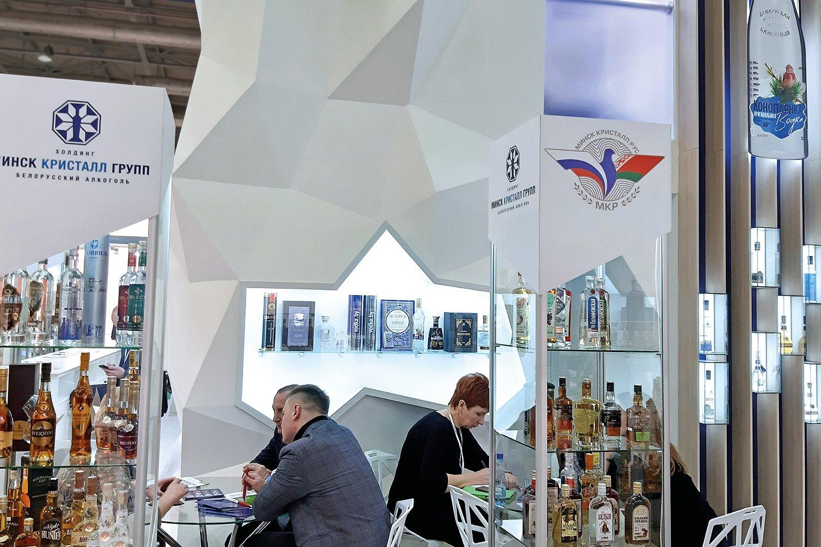 стенд компании Минск Кристалл Групп на российской выставке