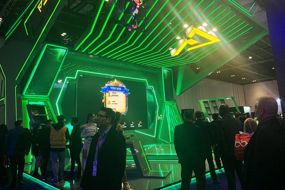 стенд компании STREAMBET на выставке в Лондоне