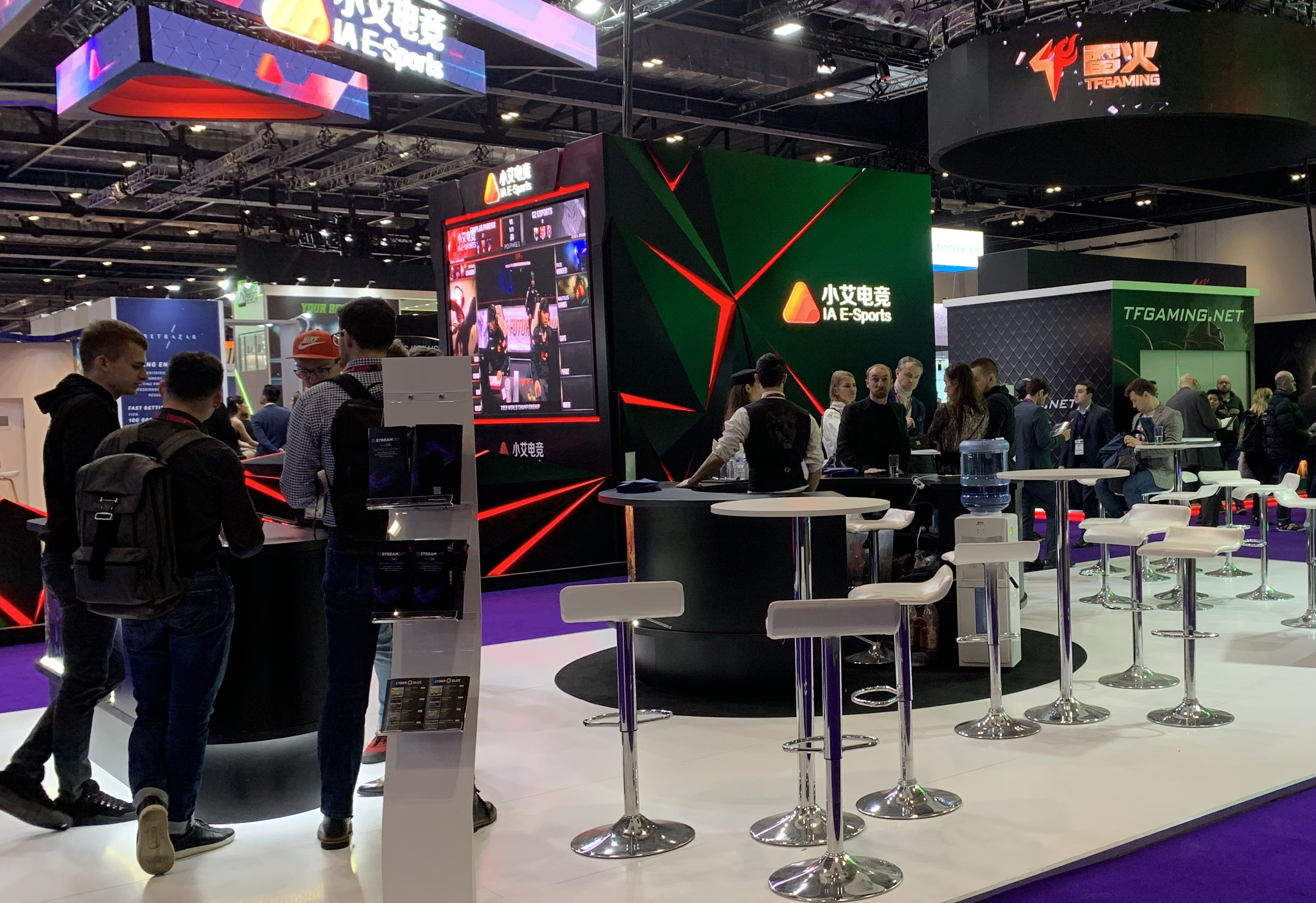 exhibition stand for a gaming company