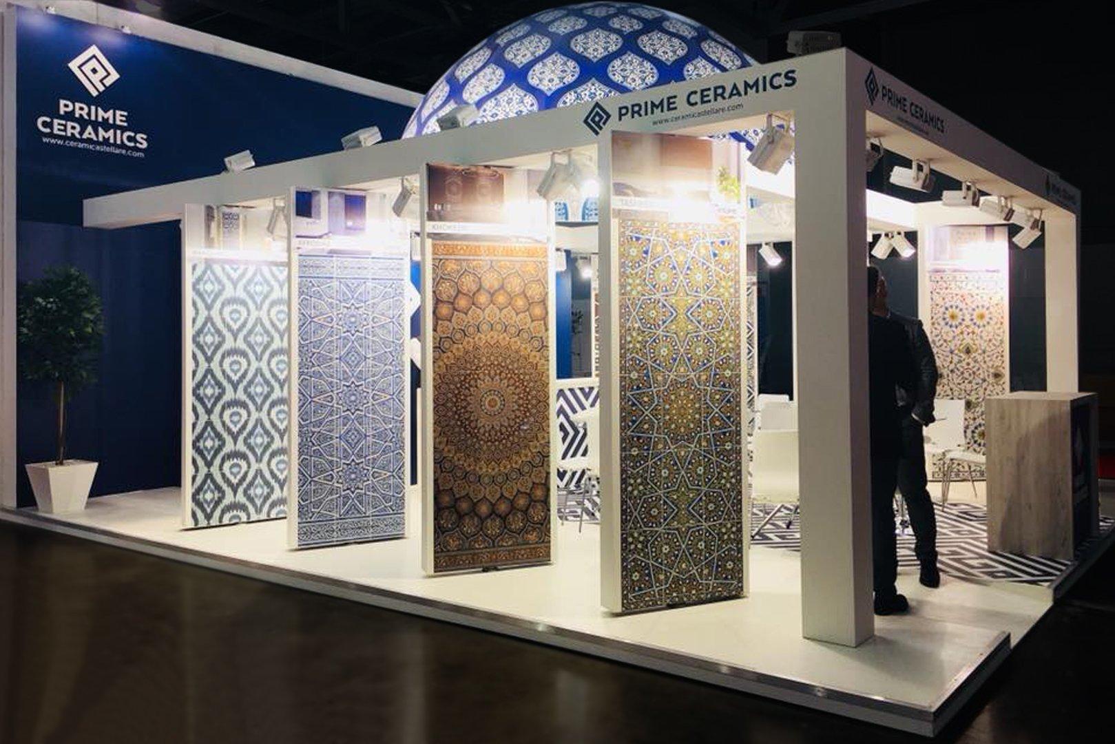 стенд компании Prime Ceramics на российской выставке