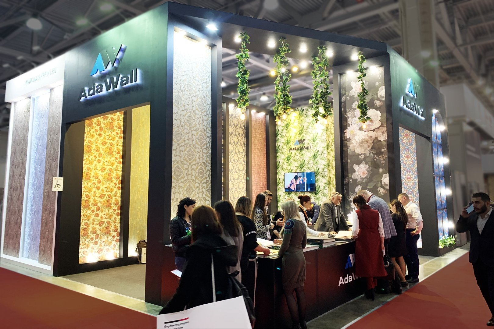 booth of AdaWall company at the exhibition in Russia
