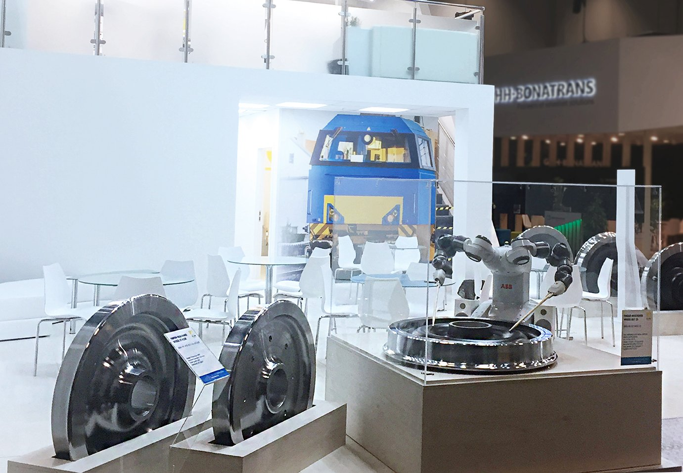 booth of Interpipe company at the Germany exhibition