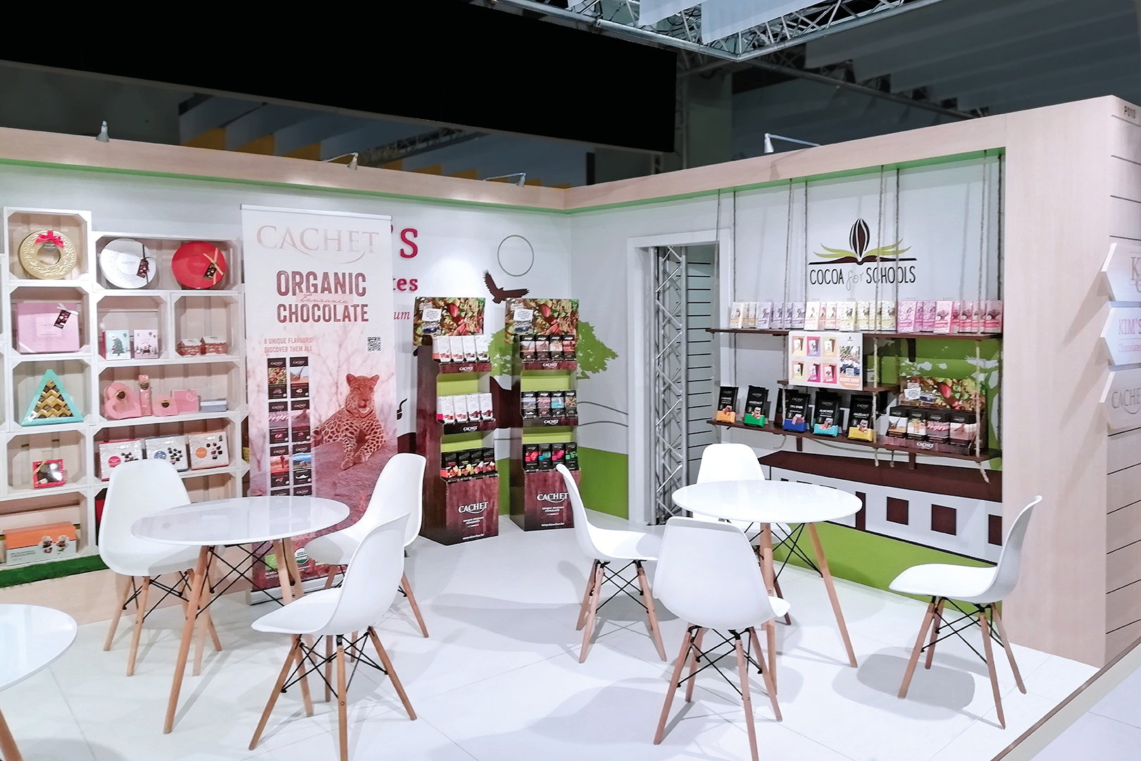booth of Kim's Chocolate at the exhibition in Cologne