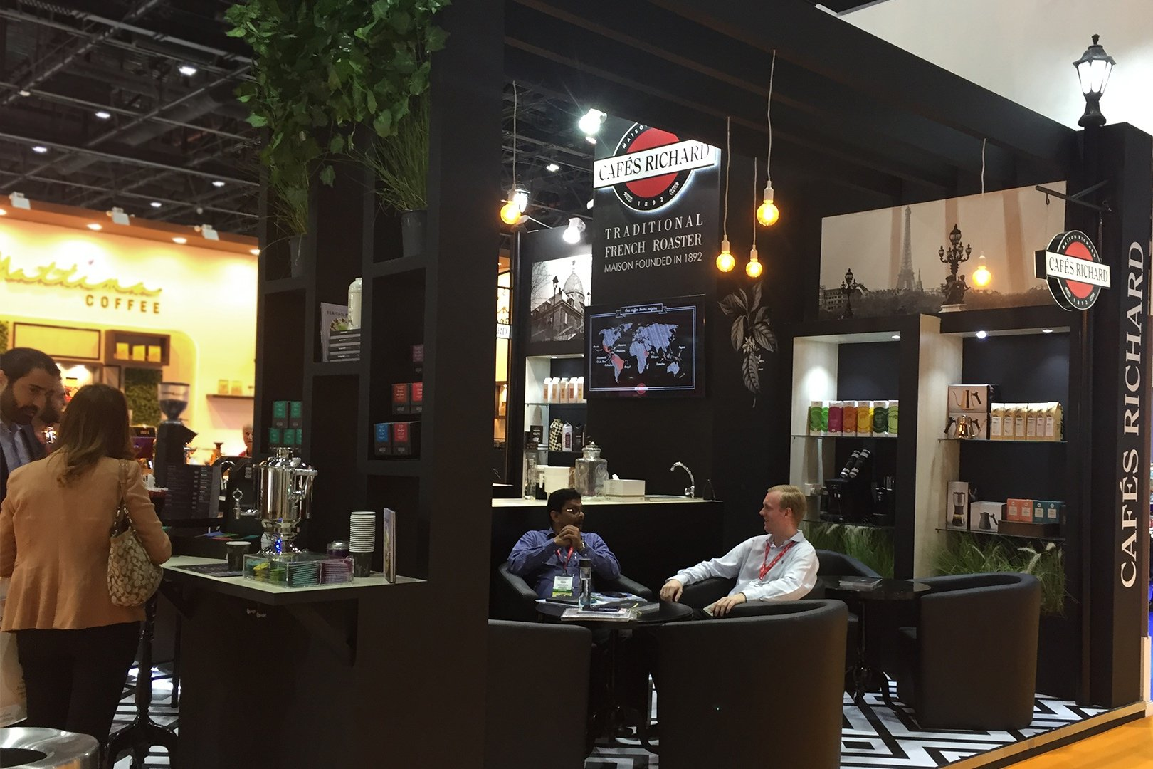 booth of Cafes Richard at the exhibition in the UAE