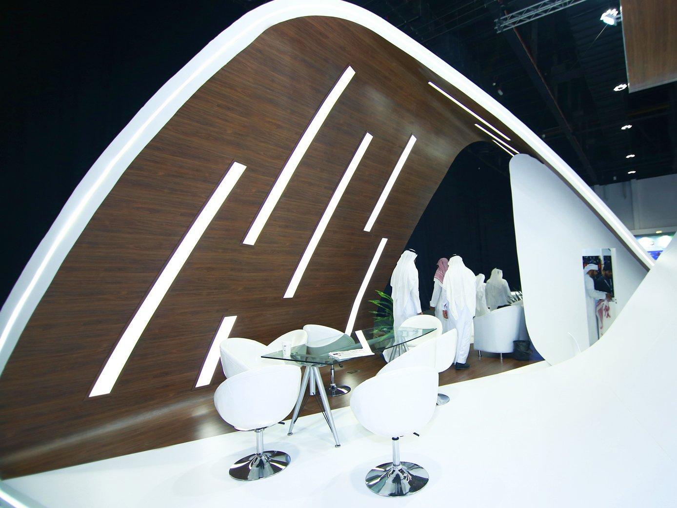 стенд Министерства транспорта Саудовской Аравии на выставке в Абу-Даби