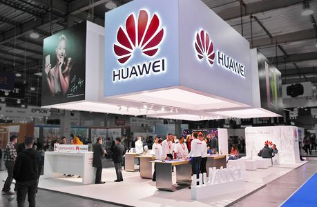 exhibition stand huawei