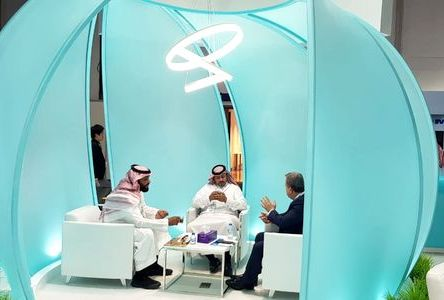 negotiation area of exhibition stand Ministry of Transport