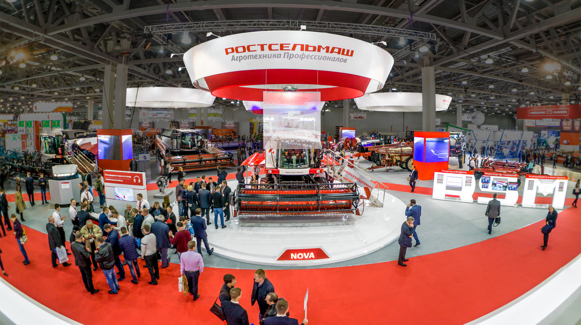 exhibition stand in Moscow Rostselmash